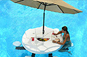 Aquapub – a floating table for your swimming pool