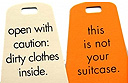 Fun luggage tags from Pamela Barsky