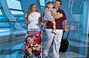 Baby strollers provided by Emirates at Dubai International Airport