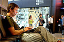 Wireless internet access at US airports