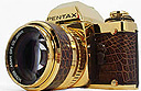 18 carat gold SLR from Pentax