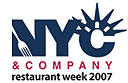 NYC Winter Restaurant Week 2007