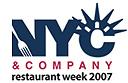 NYC Winter Restaurant Week 2007