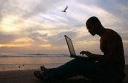 Beach blogging