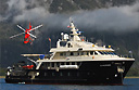 Luxury yacht and boat-based heliskiing
