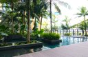 The beautiful and unusual swimming pool at the Crowne Plaza Changi Airport