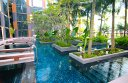 Water and greenery are major features of the Crowne Plaza Changi Airport