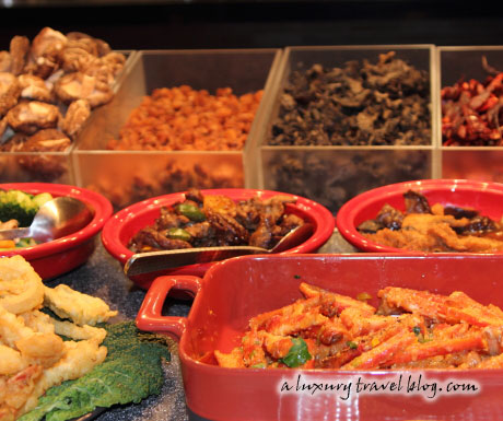An array of delicious Chinese dishes at the Mosaic's buffet