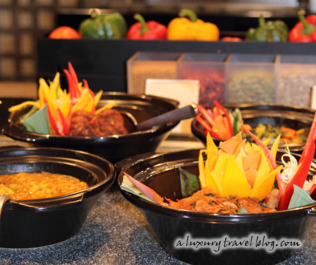 One of the colourful and mouth-watering displays at the Mosaic restaurant