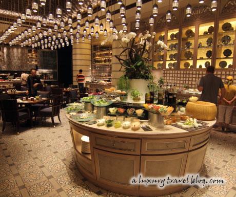 The Mosaic restaurant at the Mandarin Oriental Hotel, Kuala Lumpur