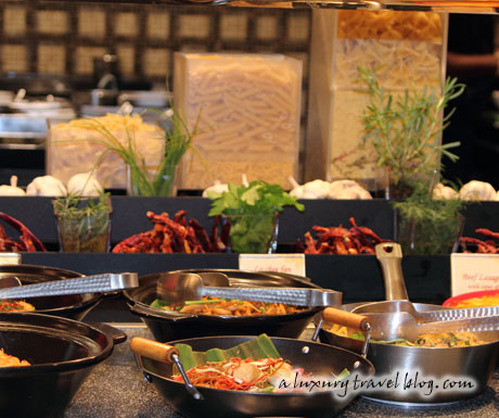 A variety of dishes from the Kuala Lumpur Mandarin Oriental's Mosaic restaurant