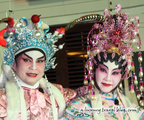 Cantonese opera singers at the Pavilions Phuket