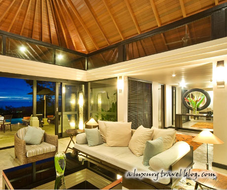 A comfortable and spacious living room with a sea view