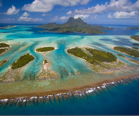 Photograph of the week: Aerial view of Bora Bora - A Luxury Travel Blog