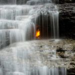The magical burning waterfall that is Eternal Flame Falls
