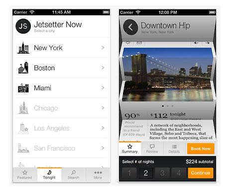 Jetsetter app