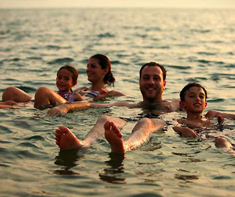 Family in Dead Sea