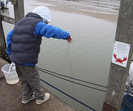 Crabbing at Blakeney