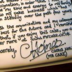 An airport worker's letter of resignation… on a cake!