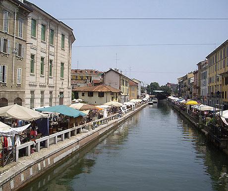 Milan antiques market