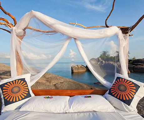 Lake of Stars Bed at Nkwichi, Lake Malawi, Mozambique
