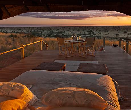 Malori Sleep Out Deck at Tswalu in the Kalahari, South Africa
