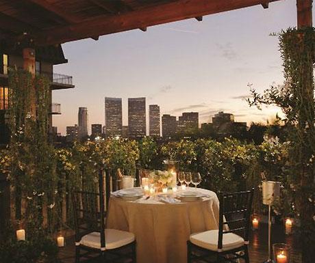 Beverly Wilshire rooftop