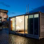 A luxury hotel room in a 20-foot container