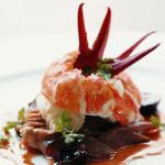 Recipe of the week: Fresh water prawn, grilled radicchio, fresh fig and jamon salad