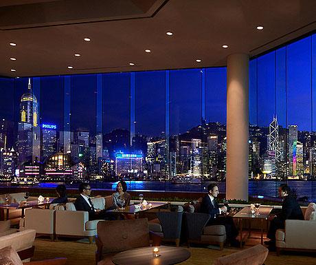 Intercontinental Hong Kong lobby at night