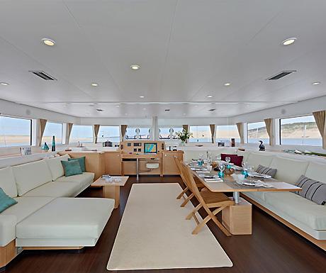 Sailing boat interior