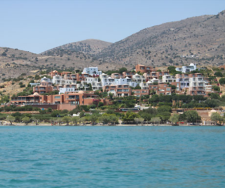 Domes of Elounda from the sea