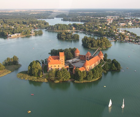 Trakai from the sky
