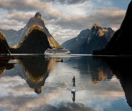Paddleboarding - Milford Sound