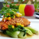 Recipe of the week: Atlantic salmon, maple soy, sesame bok choy and Phuket mango salsa