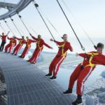 Doing the EdgeWalk on the CN Tower, Toronto