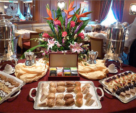 Celebrity Cruises afternoon tea