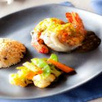 Recipe of the week: Grilled tiger prawns with passion fruit sake sauce served with Thai herb rice