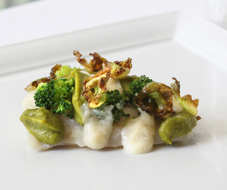 Chef Alfredo Russo's John Dory with sweet garlic sauce, broccoli and crispy Brussels sprouts