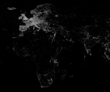 Map of the world's most photographed locations