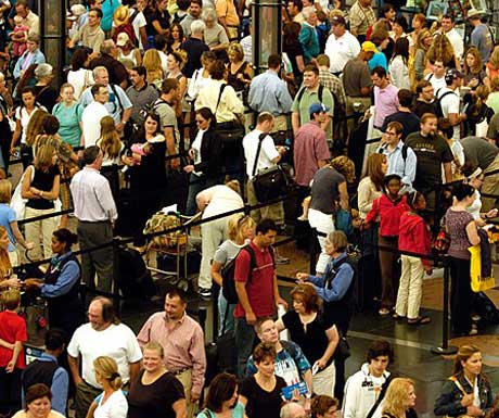 The airport frenzy