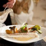 Recipe of the week: Wild sea bass in a salt crust with grilled market vegetables and foamed lobster sauce