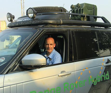 Me in the Range Rover Hybrid Prototype 3