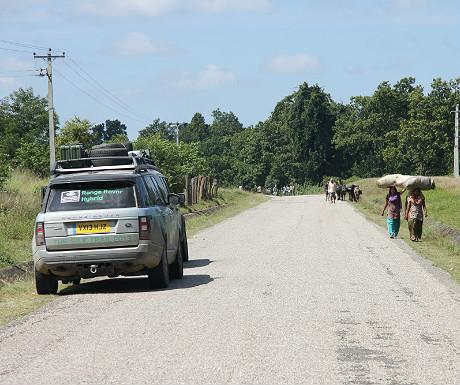 Range Rover Hybrid in Nepal