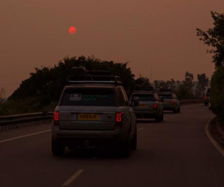 Range Rover Hybrids at dusk