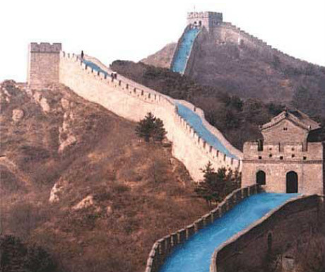 Great Wall of China waterslide