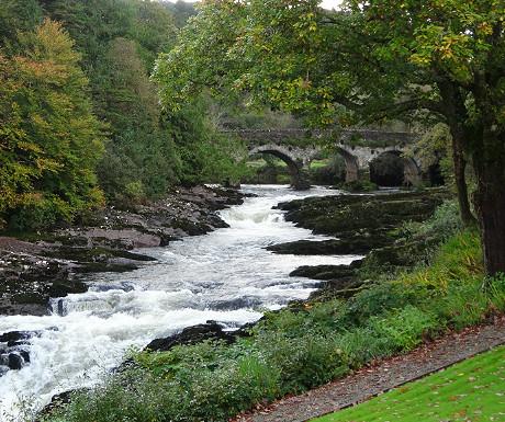 Sheen Falls waterfall