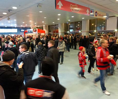 Inside HIFK's ice hockey stadium