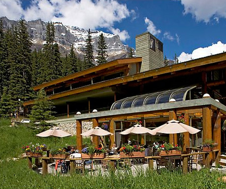 Moraine Lake Lodge, Rocky Mountains, Canada