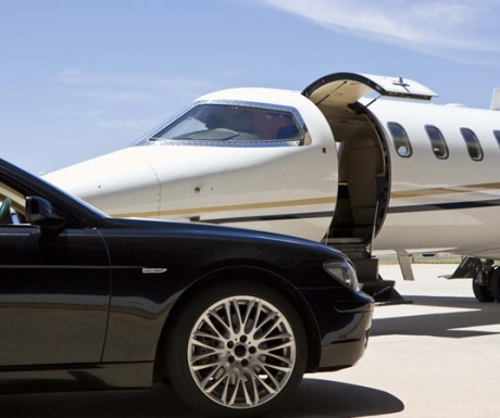 Private jet airport car